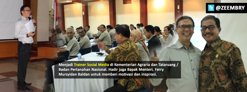 Training Social Media Kementerian Agraria