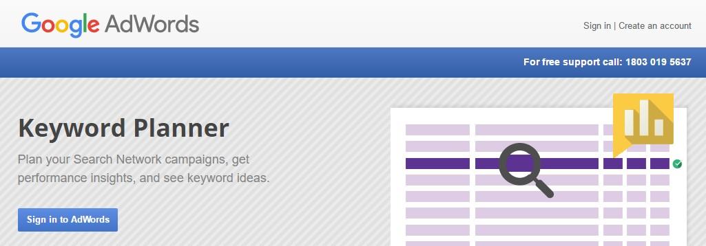 login-google-keyword-planner
